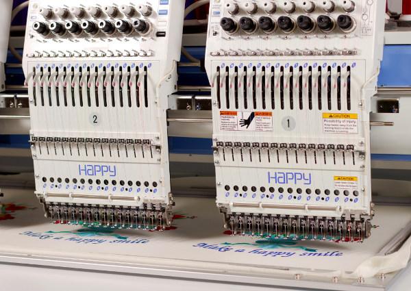 HAPPY HCR2 - Japońskie przemysłowe wieloglowicowe automaty hafciarskie