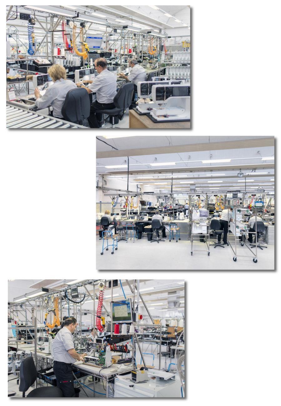BERNINA - Szwajcarska współczesna linia produkcyjna
