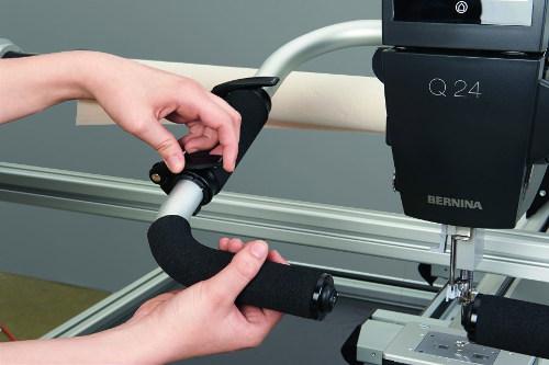 BERNINA maszyna do pikowania z linii Q podczas pracy z ramą