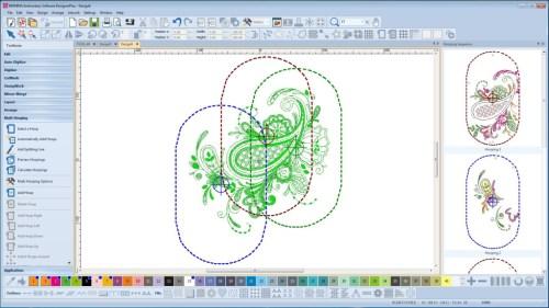 BERNINA-WILCOM Designer Plus - Podział haftu na kilka tamborków