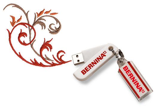 BERNINA 770 QE - wczytywanie haftów przez port USB