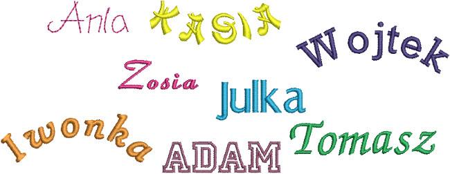 Przykładowe alfabety BERNINA Aurora 430