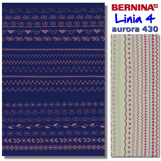 Przykladowe sciegi dekoracyjne - Aurora 430