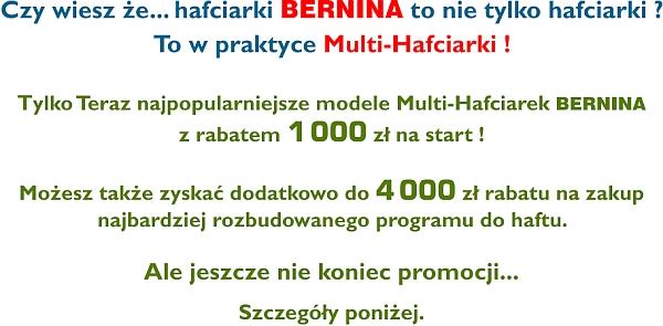 Promocje BERNINA - Multi-Hafciarki dedykowane do działalności